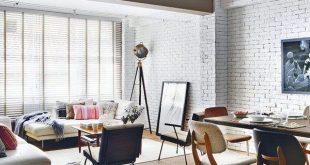 25 דוגמאות מהממות לחיפוי קיר לבנים בסלון להשראתכם